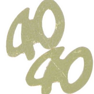 Scatter Confetti 40 Gold Numbers