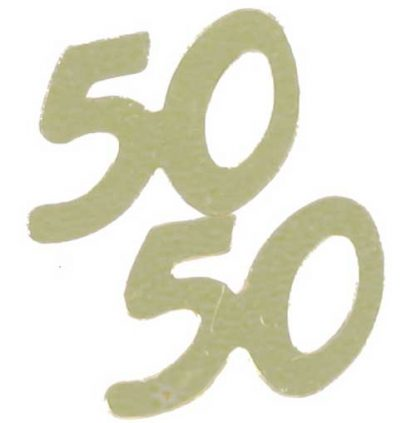 Scatter Confetti 50 Gold Numbers