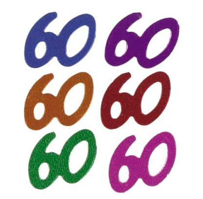 Scatter Confetti 60 Party Mix Numbers