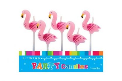 Candles Flamingo 5pk