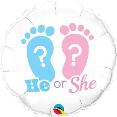 Foil Balloon '18' - He or She