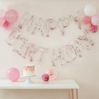 "Balloon Banner ""Happy Birthday"" - Glitter *air fill only*"