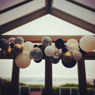 Balloon Garland Kit - Black, White & Gold