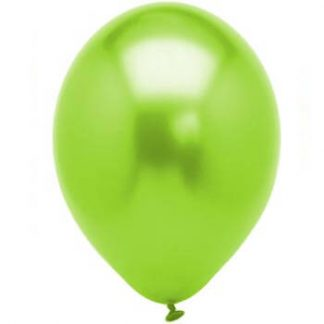 Balloon Single Metallic Lime Green