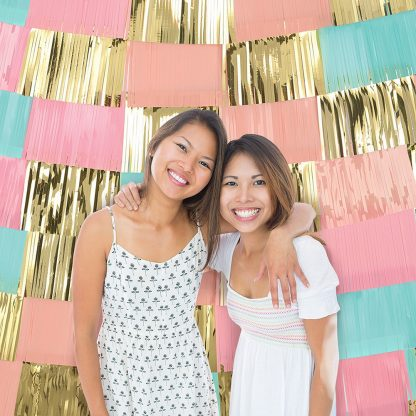 Pink, Blue & Gold Fringe Backdrop