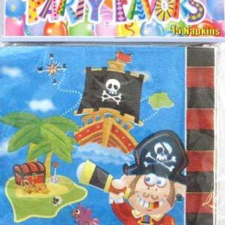 Pirate Napkins 15pk