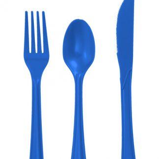Plastic Blue Spoons 25pk