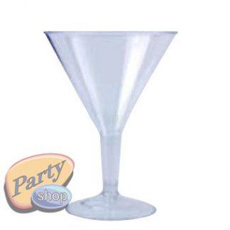 Plastic Martini Cocktail Glasses 6pk 200ml
