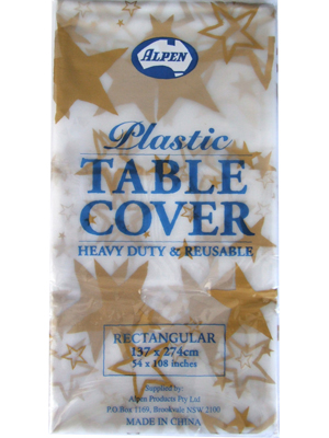 Plastic Table Cover Rectangle - Gold