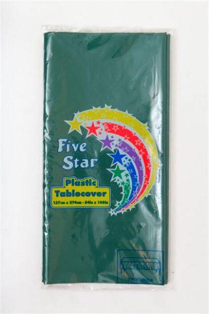 Plastic Table Cover Rectangle - Hunter Green