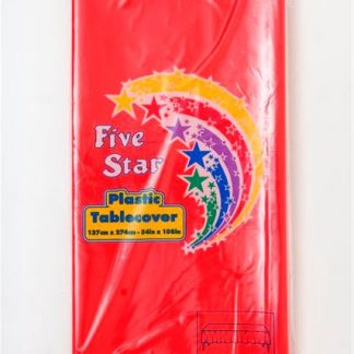 Plastic Table Cover Rectangle - Red