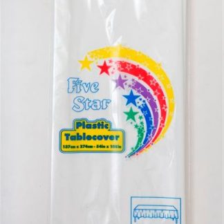 Plastic Table Cover Rectangle - White