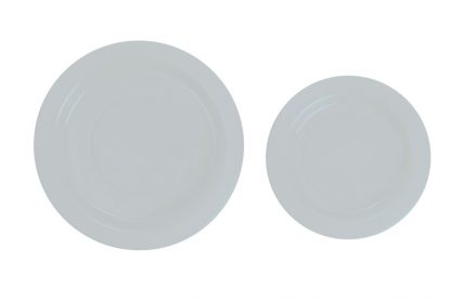 Plastic White 18cm Plates 25pk