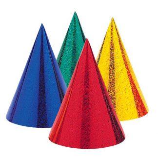 Children's Party Hats 8pk Prismatic