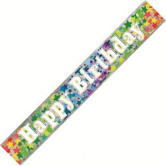 Banner Happy Birthday - Stars