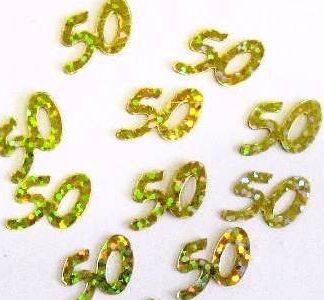 Scatter Confetti 50 Gold Holographic