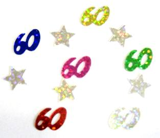 Scatter Confetti 60 Multi Numbers