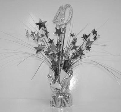 Spangle Table Centrepiece - 40th