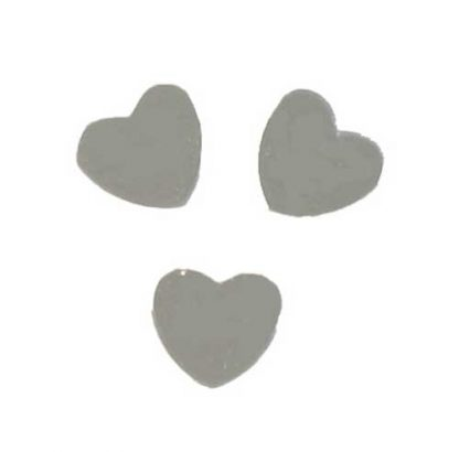 Scatter Confetti Heart Large Silver