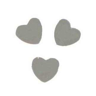 Scatter Confetti Heart Small Silver