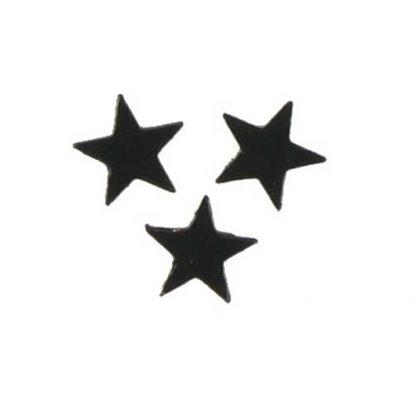 Scatter Confetti Star Small Black