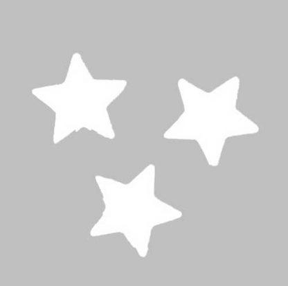 Scatter Confetti Star Small White