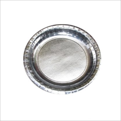 Silver Foil 22cm Paper Plates 8pk