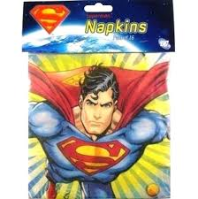 Superman Napkins 16pk