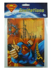 Superman Invites 8pk