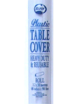 Table Cover Roll Plastic White 30m