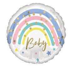 """Foil Balloon 18"""" Pastel Rainbow Baby"""