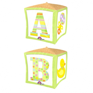 Foil Balloon Baby Block