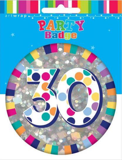 Badge Large 30th Birthday