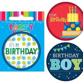 Badge Small Its My Birthday Assorted