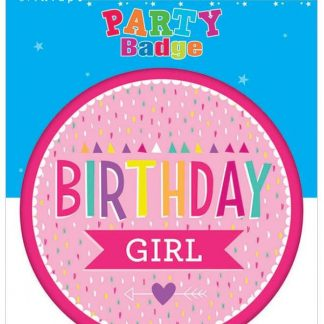 Badge Flashing Birthday Girl