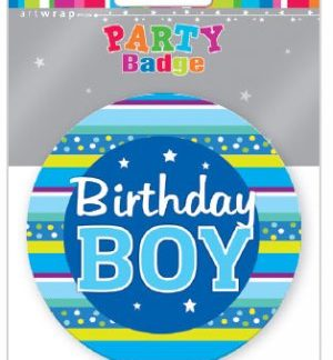 Badge Large Birthday Boy