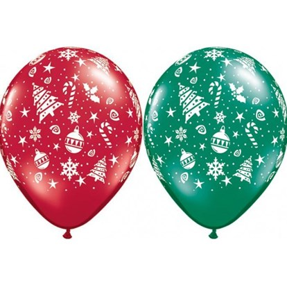 Christmas Balloon - Red & Green Decorations