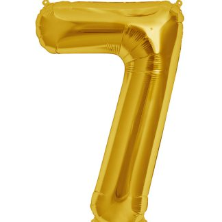 "Foil Balloon Number Gold ""7"" (Uninflated)"