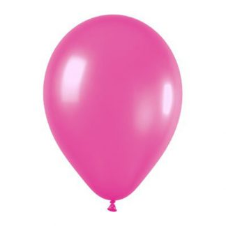 Balloon Single Metallic Magenta Pink
