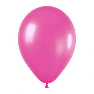 Quality Balloons 100pk, Metallic Magenta Pink