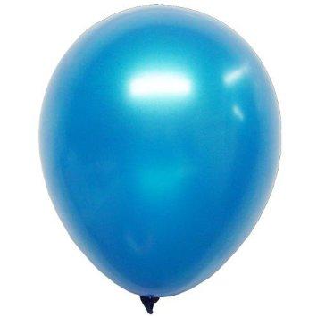 Quality Balloons 100pk, Metallic Blue