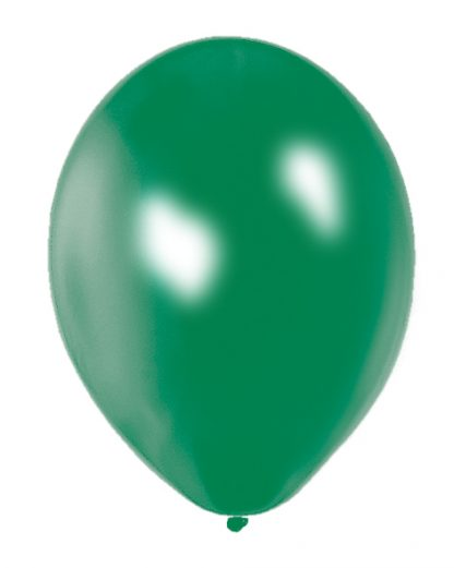 Balloon Single Metallic Green