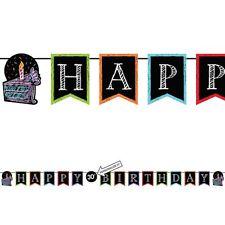 Happy Birthday Bunting Banner - Add an Age