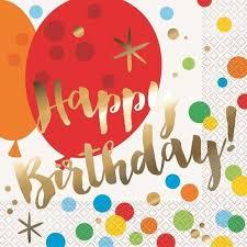 Happy Birthday Napkins 16pk