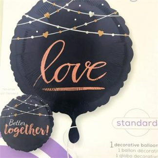"""Foil Balloon 18"""" Navy - Better Together"""