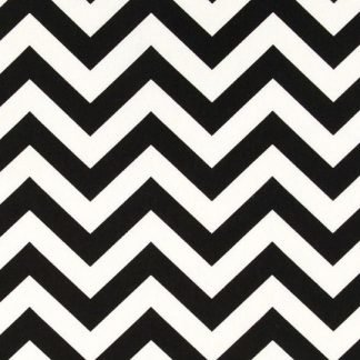 Lunch Napkins 15pk - Chevron Black