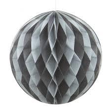 Honeycomb Ball Black & Silver 20cm