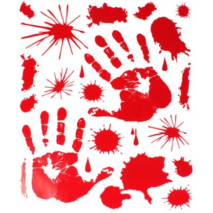 Halloween Bloody Hand print Clings