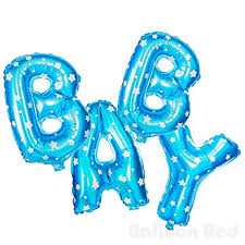 """Foil Balloon Banner Blue """"BABY"""" *air fill only"""