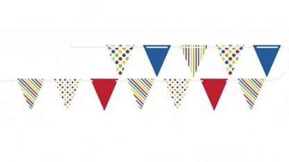 Bunting Flag Banner Bold Stripes & Dots